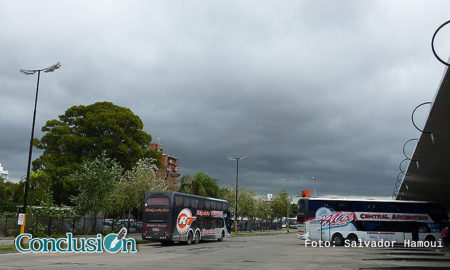 Cielo nublado en Rosario