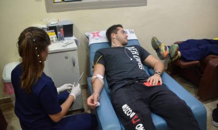 Donacion de sangre en el Italiano