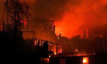 Incendio en Chile