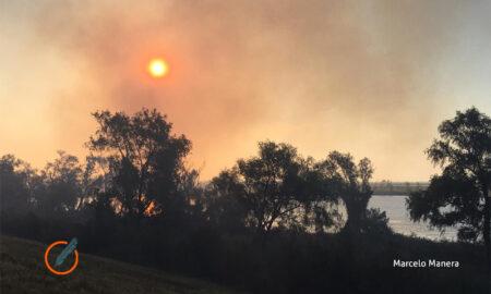 Incendio en las islas