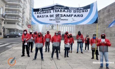 reclamo trabajadores apps monumento