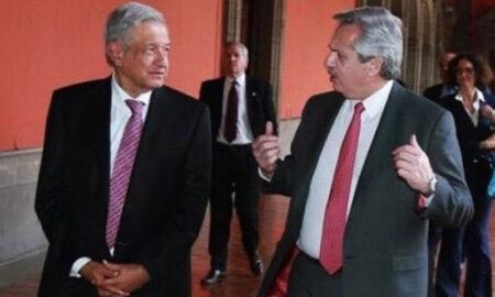 Alberto Fernández y Obrador